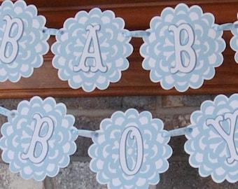 Baby Boy Banner, Baby Shower Banner, Photo Prop, Baby Announcement, New Baby