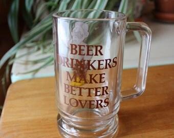 Vntg Funny Beer Drinkers Mug Gift
