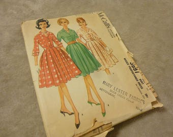 Pattern Vintage 1961 McCall's 5997 Size 16 Bust 36