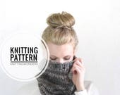 Knitting Pattern  / Chunky Cowl Neckwarmer Tube Scarf / THE CAPSTONE COWL