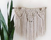 Big Macrame Wall Hanging Tapestry / Boho Bohemian Shabby-Chic Tree Branch Wall Decor / THE ACALADE HANGING
