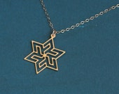 Magen David Necklace , Star of David Charm , Jewish Necklace , Gift Under 50 , Everyday Necklace , Gold Star of David Necklace