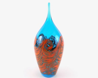 Hand Blown Art Glass Sculpture