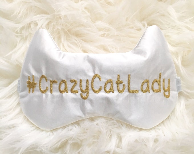 Featured listing image: CRAZY CAT LADY sleep mask