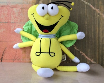 Louie the Lightning Bug Plush • Vintage Lightning Bug Stuffed Toy • 80s PSA Cartoons • Electricity Safety for Kids • Advertisement Doll