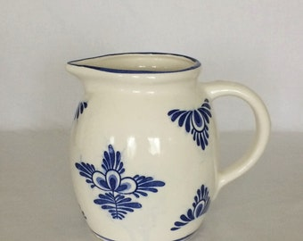 Pitcher 48 fl.oz. Delft Blue and White  Stands 6 1/4""