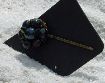 Hair Pins, Wedding Bobby Pin, Prom Bobby Pins, Vintage Earrings, Vintage Bobby Pin, Beaded Hair Pin, Black Bobby Pin, Hair Accessories