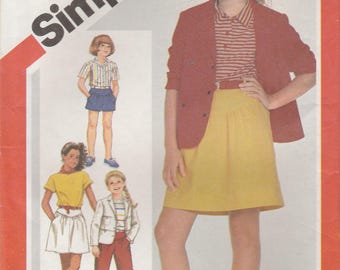 Girls' Wardrobe Pattern Simplicity 6305 Size 8 Uncut