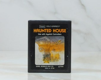Vintage Atari 2600 Game Haunted House, 1981, Atari, Sears Tele Games Pair Of Eyes, Haunted Mansion, Zachar-y Graves, Horror, Scary, GameSpy
