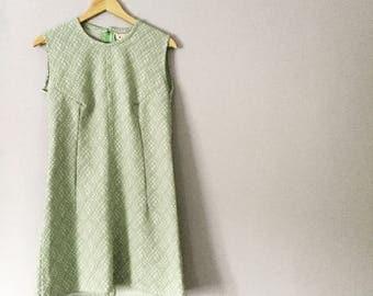 1960's Mint Green Shift Dress