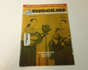 Bluegrass Unlimited Vol. 24, No. 4 (October 1989) - Delmore Brothers cover ~ vintage 80s Music Magazine back issue