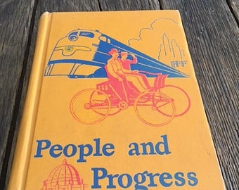 People And Progress - 1950 Catholic Illustrated Textbook By Rev John A. O'Brien - People And Progress A Cathedral Basic Reader - Mid Century