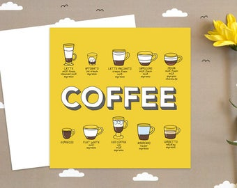 coffee birthday card  etsy, Birthday card