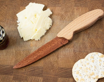 Wooden Cheese Knife - Cake Knife - Wooden Knife - Sapele and Beech