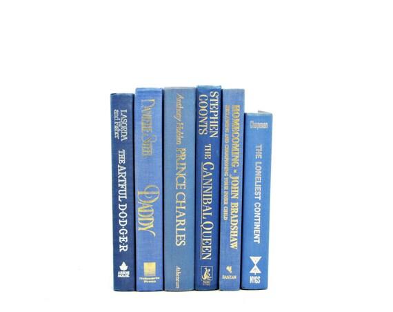 BLue Pastel Books, Decorative Books, Centerpiece, Wedding Decor, Book Collection, Old Book Set, Photo Props, LIght BLue BOok Decor