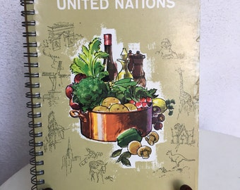 Vintage 1964 cookbook of the United Nations by Barbara Kraus Paperback