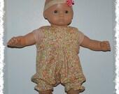 "Sleeveless 1-Piece Romper (Bitty Baby 15"" Doll)"