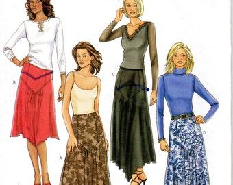 Women's Angled Skirt Pattern - Size 12, 14, 16 - Butterick 4026 uncut
