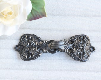 Vintage French Pot Belt Buckle, Great as a Clasp for Assemblage Projects