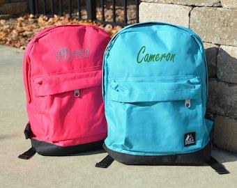 Monogram Kids Children Toddler School Backpack, Personalized School Kids Backpack, Monogrammed Children's Backpack
