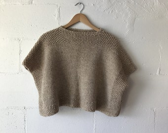 Handmade Cropped Knit Sweater.