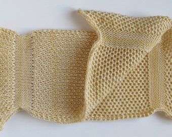 Certified Organic Cotton Spa Cloth / Washcloth - Sahara Yellow & Natural White Low Impact Dyed - Great Gift for everyone!
