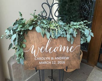 Wedding Welcome Sign Wood, Welcome Wedding Sign, Welcome Sign Wood, Wedding Signs Wood, Wood Wedding Sign, Wooden Wedding Signs, Rustic