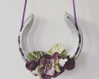 Nadya Autumnal Floral Lucky Wedding Horseshoe