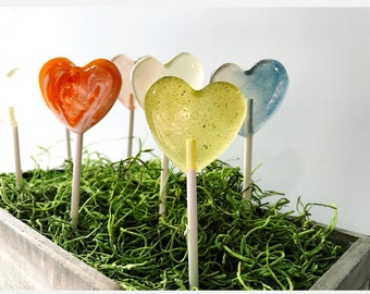 100 Spring Wedding Favors // Heart Shape Lollipops // Gold Favors // Pink Favors // Choose 4 Flavors // Mix and Match // Summer Wedding