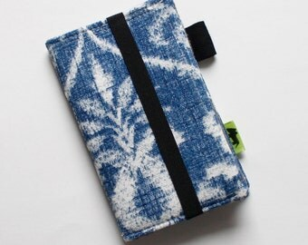 iPhone 6 wallet, Blue block print Shibori wallet, iPhone 7 wallet earthy natural print TLC Pouches, samsung, android, smartphone case