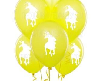 Polo Prince Balloons |  Polo Balloons | Polo Player Balloons | Horseman Balloons | Red | Blue | Yellow | Green | Orange