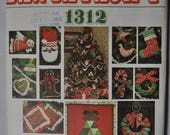 Vintage Vogue Pattern Santa Pack I, number 1312, New UNCUT Christmas Ornaments, advent Calendar, Wreath, Stocking, Patchwork Pillow