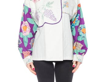 Boho Embroidered And Patchwork Top Size: 8-10