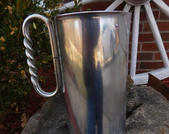Vintage Buenilum Hammered Aluminum Pitcher with Ice Lip - circa 1950 - from DustyMillerAntiques