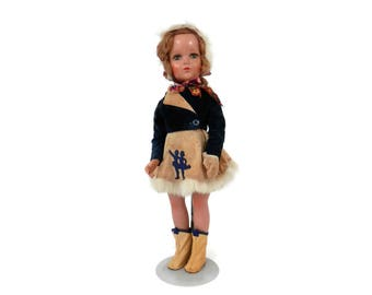 Arranbee Nancy Composition Doll All Original with Winter Ice Skating Outfit