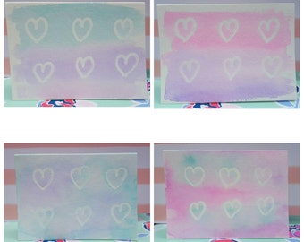 Soft Hearts (set of 4 note cards)