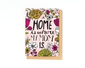 Birthday Card For Mom - Mom Birthday Card - Thank You Mom - Home Is Where My Mom Is - Thank You Card - Just Because Card - Miss You