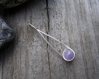 Cape Amethyst Sterling Silver Moon Catcher (TM) Pendant - 6mm