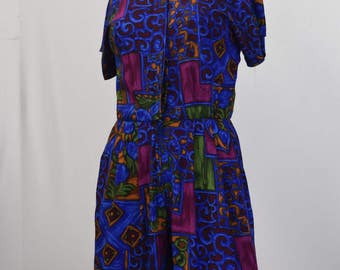 Abstract 80s Print Playsuit
