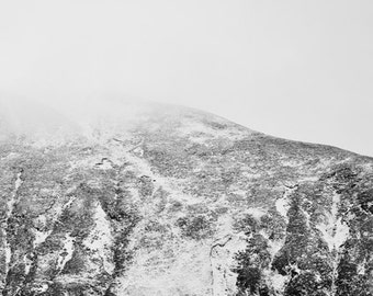 Black and White Photography Print, Scottish Art, Mountains Print, Modern Art Photography, Oversized Wall Art, Mountain Photography - A9