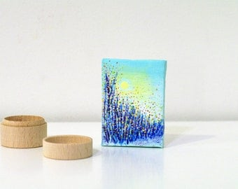 Miniature abstract paintings on canvas Miniature painting acrylic - miniature paintings acrylic modern abstract art - original abstract