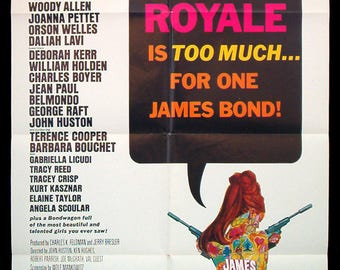 CASINO ROYALE original 1967 movie poster James Bond 007