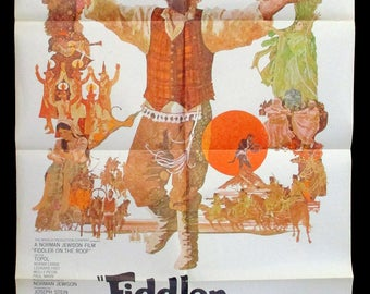 FIDDLER On THE ROOF original 1971 movie poster