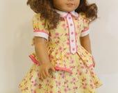 Vintage Dress with Peplum 18 Inch Dolls