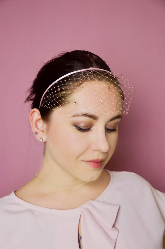 Blush Pink Birdcage Headband
