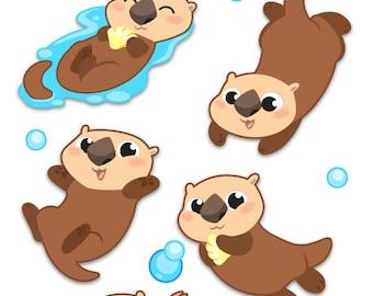 Sea Otter Sticker Sheet