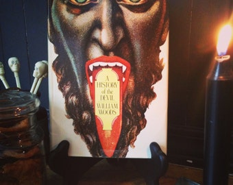 Vintage Book A History Of the Devil By William Woods Old Halloween Decor Krampus Demon Satan Collectible Display Occult