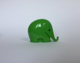 10% OFF Vintage Colani Style Elephant Piggy Bank. Space Age. Green. German. Piggy Bank. Drumbo. Germany. 2017_019