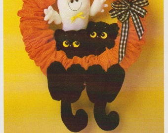 Scaredy Cat Halloween Wreath Pattern