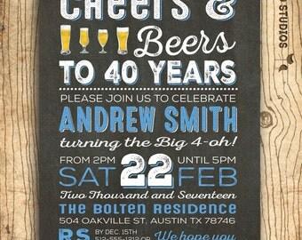 40th Birthday Invitation Surprise Invite